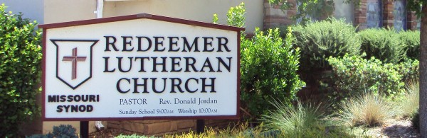 Redeemer Lutheran Church Sign