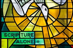 Scripture Alone Stained Glass Window