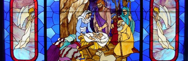Stained Glass Window - Jesus is born