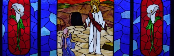 Stained Glass Window - Jesus is risen