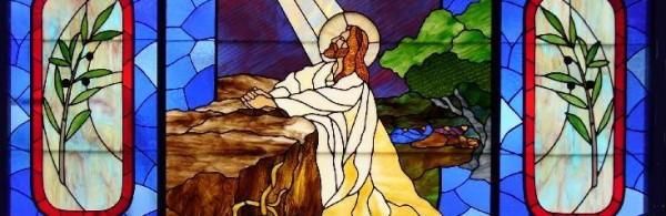 Stained Glass Window - Jesus prays